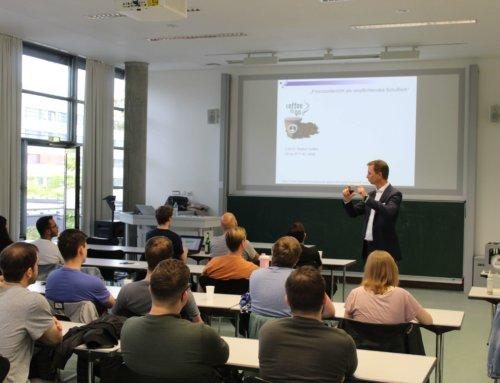 Erster Vortrag von Jan Rühmling dieses Semester